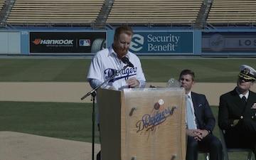 "LA Dodgers host Los Angeles ""Enlistment Ceremony"""