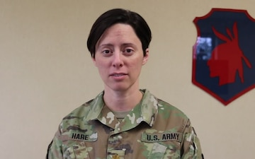 MAJ Sara Hare Gives a Women's History Month Shout Out