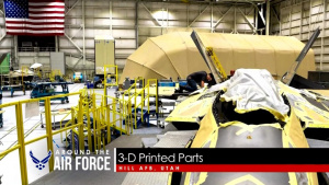 Around the Air Force: VR Demo / 3-D Printed F-22 Part