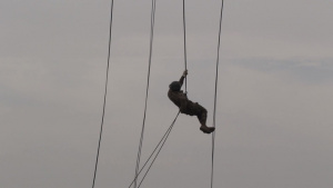 Helicopter Rappel: Day 9 of Air Assault School BROLL