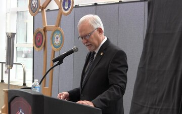 CSM Frank Puidokas' bronze plaque dedication speech