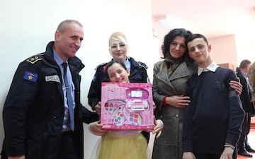 Kosovo Police and KFOR Soldiers Donate Toys to Kosovo Children