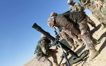 U.S.-Jordan forces train on mortar systems