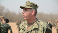 US Indo-Pacom Commander Admiral Philip S. Davidson gives his remarks during exercise Cobra Gold.