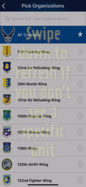 USAF Connect app for the 944th Fighter Wing