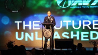 412th Test Wing commander addresses local leaders