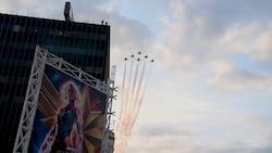Thunderbirds Flyover Captain Marvel Premiere