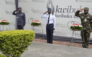 African Partnership Flight Rwanda - Kigali Genocide Memorial Wreath Laying Ceremony