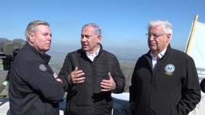B-Roll of U.S. Senator Graham, Ambassador Friedman Tour Golan Heights With Israeli Prime Minister Netanyahu