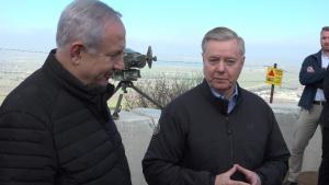 U.S. Senator Graham, Ambassador Friedman Tour Golan Heights With Israeli Prime Minister Netanyahu