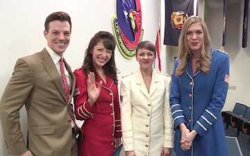 USO Show Troupe Visits 179th Airlift Wing