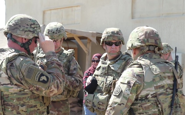 103d Sustainment Command Conducts Pre-deployment Site Survey (B-Roll)