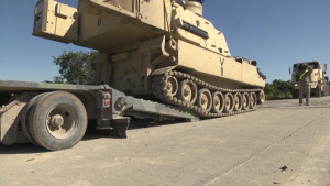 Oklahoma National Guard General Visits Troops