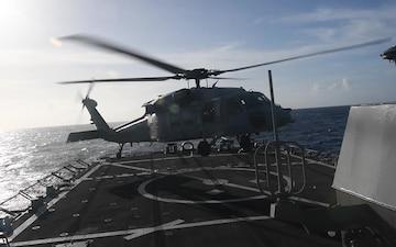 USS Curtis Wilbur Flight Operations