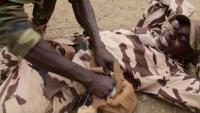 Chadian medics train Burkinabe soldiers on TCCC