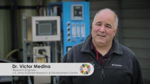 Dr. Victor Medina presents the Decontamination Effluent Treatment System (DETS)