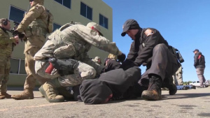 Oregon Security Forces Airmen Conduct Civil Disturbance Training During PATRIOT South