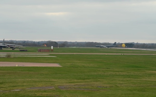 B-52 Landing and KC-130 Take-Off