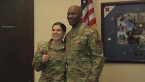 CMSAF Wright Visits Beale Air Force Base