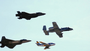 F-35 Demo Team Heritage Flight Formation