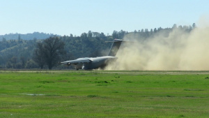 McChord C-17 at Fort Hunter Liggett