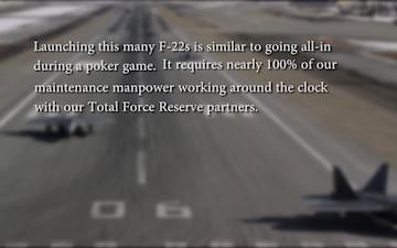 JBER F-22s demonstrate combat capablilites