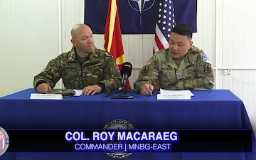 U.S. Soldiers and North Macedonia's Soldiers Conduct Joint Live-Fire Training Exercise