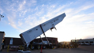Rise & Shine: Team Minot Airmen test ICBM rocket loading system