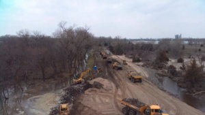 USACE working to restore Union Dike levee Mar. 26, 2019