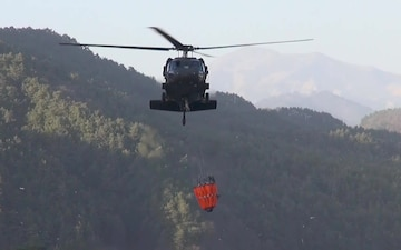 U.S. Soldiers help fight wildfires in South Korea