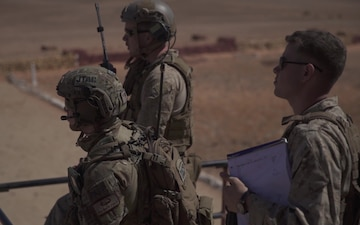 U.S. Marines and Airmen drop ordnance with Moroccan troops at Greir Labouihi