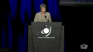 Air Force Secretary Speaks at 35th Space Symposium
