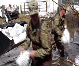 ND National Guard Fights Cass County Flooding