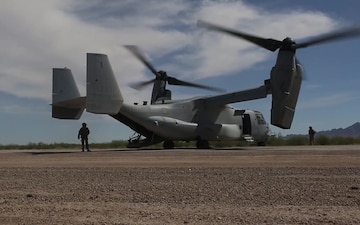 Marines Conduct Osprey Flight Operations During WTI 2-19