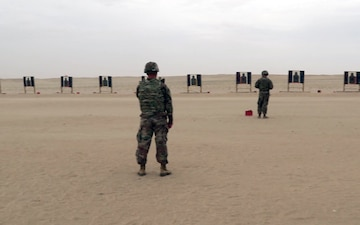 Going for Gold: Service Members Shoot Targets on Udairi Range for GAFB