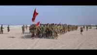 Headquarters and Support Battalion conducts a battalion run