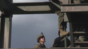 Charlie Company conducts fast-rope training