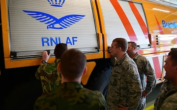 BROLL: 148FW Fire Fighters Participate in Frisian Flag 2019