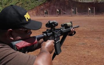 Palau Police m4 Familiarization Fire B-Roll + Interview:Lt. Col. Douglas Graham