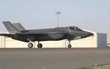 USAF F-35A Lightning II Lands for First Middle East Deployment