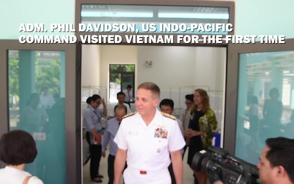INDO-PACOM Commander at Khanh Hoa Hospital Ribbon Cutting Ceremony
