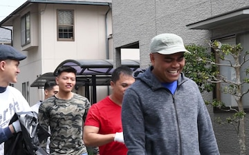 Iwakuni Marines, Sailors build bonds with Japanese by volunteering (Package/Pkg)