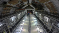 Time Lapse of GPSIII Load on C-17 (Inside Aircraft) at Buckley AFB, CO