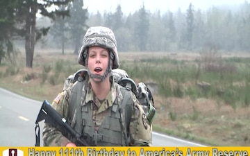 Army Reserve Birthday shout out with Staff Sgt. Jade Fitzgerald