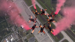 US Army Parachute Team Golden Knights B-Roll
