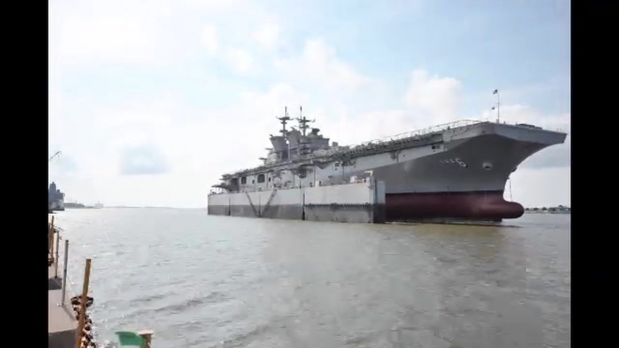 Launching USS America