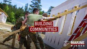 Marine Minute: Building Communities