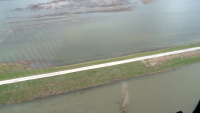 Aerial view of Levee L536 Apr. 17, 2019