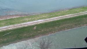 Aerial view of Levee R573 Apr. 17, 2019