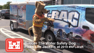 Bobber promotes water safety during NFL Draft